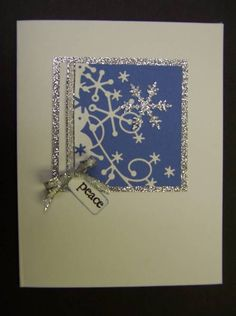 CAS146 Snowy Peace by hobbydujour - Cards and Paper Crafts at Splitcoaststampers.  Uses Memory Box Snowflake corner.