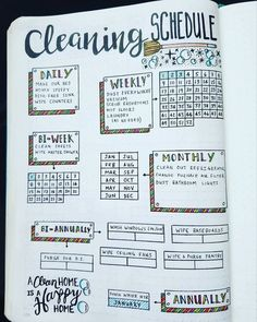 Cleaning schedule layout design (organizing books diy)