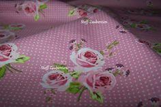 Rosenstoff Shabby Landhausstoff ring a roses Rosen von Stoff-Zaubereien auf DaWanda.com