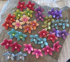 Spring collection of polymer clay floral earrings.  My new beloved stuff :-)