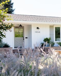 our charming napa project 💛 so many pretty little details we love! … our charming napa project 💛 so many pretty little details we. White Exterior Houses, Ranch Exterior, Modern Farmhouse Exterior, House Paint Exterior, Exterior Paint Colors, Exterior Remodel, Exterior House Colors, Exterior Design, Farmhouse Style