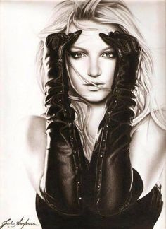 Drawing of Britney Spears #art #drawing #britney #britneyspears