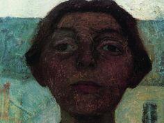 Paula Modersohn-Becker: Selbstbildnis vor Fensterausblick auf Pariser Häuser, 1900, Privatbesitz