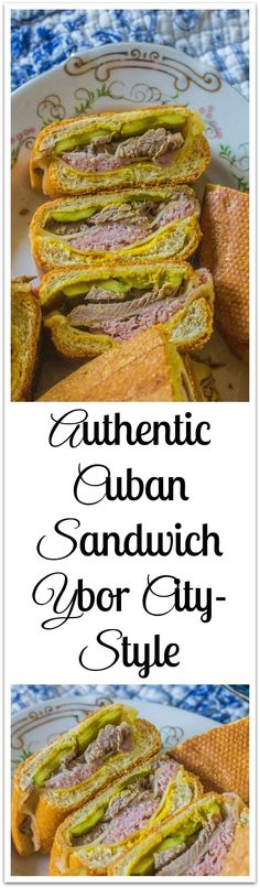 Cuban bread, mustard, dill pickles, ham, pork and Swiss cheese create this iconic sandwich. Kubanisches Sandwich, Soup And Sandwich, Sandwich Recipes, Appetizer Recipes, Cuban Appetizers, Snack Recipes, Appetizer Ideas, Breakfast Recipes, Dinner Recipes