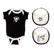 Old Time Hockey Pittsburgh Penguins Infant Knick Knack Creeper and Bib Set - Black It's Saturday in real life, but it's still Black Friday at Fanatics! Save 25% + free shipping on orders over $50! Use code: BLKFRI
