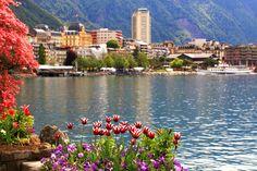 Montreux: hermosa ciudad en el lago Ginebra que organiza un festival de jazz cada verano. #Montreux #Jazz #Summer