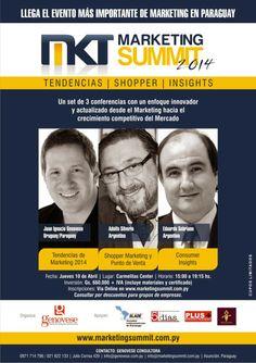 Estaré el jueves 10 dando una conferencia en Asunción, sobre Consumer Insight , marketing y Branding en el Marketing Summit Paraguay 2014 . Quiero agradecer a Ignacio Genovese por la invitación.Será un honor intercambiar opiniones con mis colegas y aprender sobre el consumidor paraguayo.Lo temas d