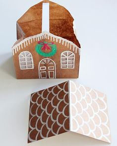 Gingerbread House from a Brown Paper Bag