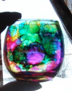 All Thumbs Crafts: Faux Stained Glass