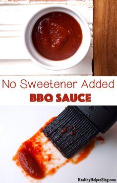 No Sweetener Added BBQ Sauce #paleo #vegan #glutenfree • Healthy Helper
