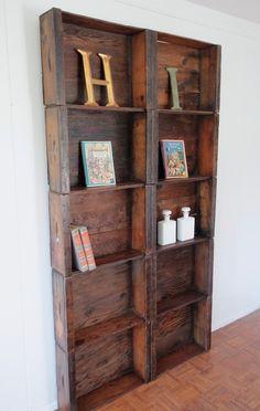 Reclaimed Vintage Fruit Crate Display