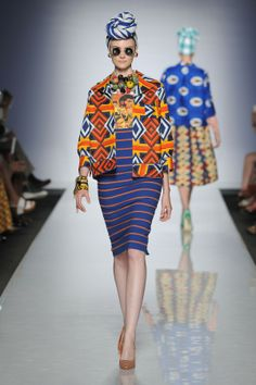 Ethical fashion takes the runways at Alta Moda Alta Roma 2013 - Stella Jean Africa - fabrics made in Africa by Burkina Faso wavers African American Fashion, African Inspired Fashion, African Print Fashion, Africa Fashion, Ethnic Fashion, Fashion Prints, Fashion Design, Ankara Fashion, African Prints