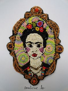 Colorful Bead Frida Brooch