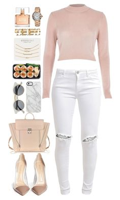 """""""Rose Gold"""" by poetic-tuesday ❤ liked on Polyvore featuring River Island, FiveUnits, Gianvito Rossi, Uncommon, 3.1 Phillip Lim, Aéropostale, Atmos&Here, Lucien Piccard and Givenchy"""