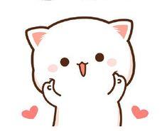 Cute Bunny Cartoon, Cute Cartoon Images, Cute Kawaii Animals, Kawaii Cat, Cute Cartoon Wallpapers, Cute Love Gif, Cute Love Pictures, Cute Cat Gif, Chibi Cat