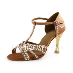 Dance Shoes - $88.99 - Satin Sandals Latin Ballroom Dance Shoes (053012984) http://jjshouse.com/Satin-Sandals-Latin-Ballroom-Dance-Shoes-053012984-g12984