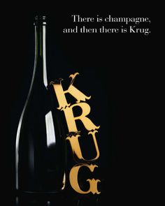 Krug Champagne. Complejo y profundo, fuera de serie, incomparable... #wine #advertisement #champagne
