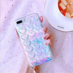Cute 3D Shining Love Heart Soft Case Transparet Cover for iPhone 7 6 6s Plus #UnbrandedGeneric