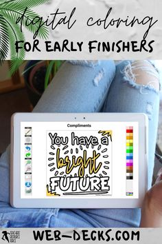 What do you do when your students have finished their distance learning tasks? Remote learning can be challenging as you try to ensure all your students are learning, progressing and occupied. It can be difficult to find suitable and fun virtual learning activities to issue as extension work for your early finishers. Keep reading to learn 5 creative ideas for your early finishers during a distance, hybrid or blended learning classroom! web-decks.com digital coloring pages Free Teaching Resources, School Resources, Learning Activities, Teaching Ideas, Teacher Blogs, New Teachers, School Direct, Mindfulness Colouring, Quote Coloring Pages