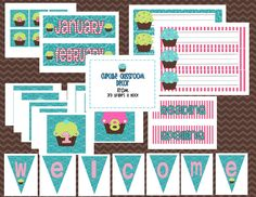Sweet Cupcake Classroom Theme