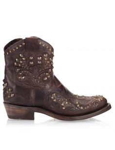 """Kendra"" Vacchetta Studded Western boots"