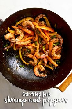 Add some spice to your shrimp with this easy recipe! Click to find the Stir-Fried Jerk Shrimp and Peppers recipe.