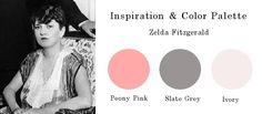 Peony pink + Slate Grey + Ivory