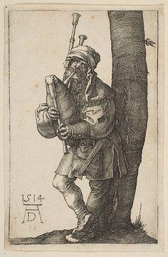 """""""Der Dudelsackspieler"""", 1514, Albrecht Dürer (1471-1528)"""