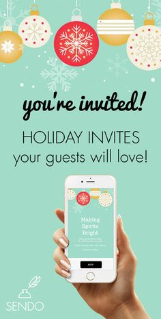 You're Invited! Online Holiday Invitations your guests will love including music, sound and animation! Track RSVPs and event sell event tickets! Online Invitations, Digital Invitations, Winter Party Decorations, Christmas Party Invitations, Youre Invited, Diy Party, Event Tickets, Holiday Parties, Party Planning