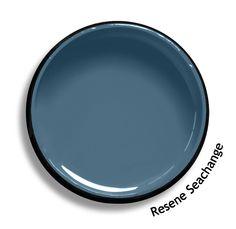 Resene Seachange is a soft Scandinavian blue, with a demure touch of slate grey… Paint Schemes, Colour Schemes, Color Palettes, Color Combos, Exterior House Colors, Exterior Paint, Wall Colors, Paint Colors, Resene Colours