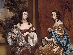 1650s Mary Capel, Later Duchess of Beaufort, and Her Sister Elizabeth, Countess of Carnarvon by Sir Peter Lely