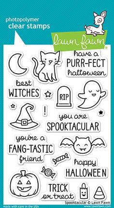 Lawn Fawn Spooktacular Stamps