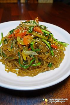 Japchae, Ethnic Recipes, Food, Essen, Yemek, Meals