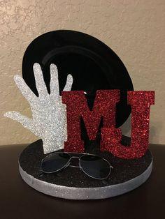 Michael Jackson Inspired Centerpiece, Michael Jackson Birthday, Michael Jackson Party Decorations, King of Pop, Michael Jackson Themed Party Decorations