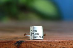 Storybook Ring - Own Your Journey, Own Your Story by DreamingTreeCreation on Etsy https://www.etsy.com/listing/240819953/storybook-ring-own-your-journey-own-your