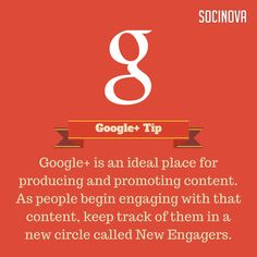 #Socinova #GooglePlus #Marketing Tip