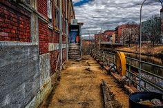 Bates Mill Office Canal Street - Original fine art urban architectural photography by Bob Orsillo.  Copyright (c)Bob Orsillo / http://orsillo.com - All Rights Reserved.