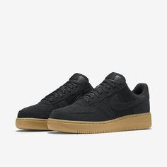Nike Air Force 1, Blk/Gum/Blk
