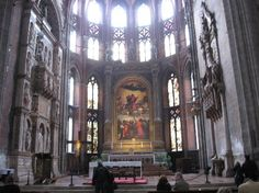 (Venice) St. Mary of the Friars - church, art, sculptures. Open until 6:00pm