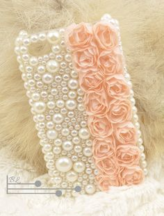 Lace Rose Pearl iphone 4 case iphone 4s case iphone hard case iphone cover bling handmade