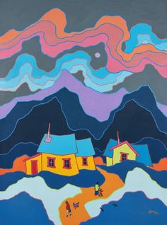 ted harrison art lesson - Google Search