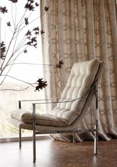 Salina Ribbon curtains and Spot On upholstery from the Aria Collection by Anna French