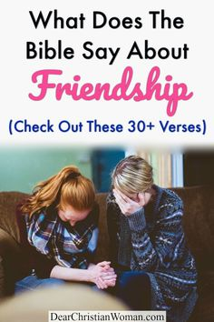 Here are 30 Bible verses about friendship and what real friends are! Everyone need high-quality, trustworthy, godly friends who can encourage you through the highs and lows of life. If you are looking for a friendship Bible Study, these verses are a great place to start! #biblestudy #friendship #godlyfriends #christianfriends #friend #bestfriend Bible Verses About Friendship, Top Bible Verses, Ministry Ideas, Women's Ministry, Christian Friends, Christian Women, Godly Relationship, Prayer Warrior, Power Of Prayer