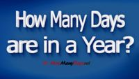 How Many Days are in a Year?