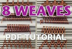Ever wonder how to create intricate wire weaves? This is a MUST-have tutorial every wire-wrappers should have. Clear and detailed step-by-step.