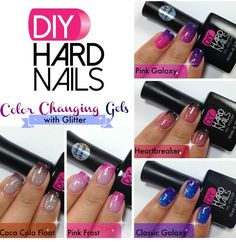 Makeup tutorial for glasses nail polish 66 ideas Gel Nails At Home, Soak Off Gel Nails, Gel Nail Polish, Diy Nails Tutorial, Nail Tutorials, Fall Nail Designs, Cute Nail Designs, Diy Hard Nails, Mood Changing Nail Polish