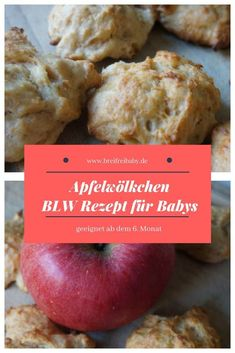 BLW recipes from the 6 month: Apple Clouds are great for freezing. The cookies are sugar free and great as a snack in the afternoon or for breakfast. Right from the start of the delivery for your baby Lunch Boxe, Baby Snacks, Maila, Homemade Baby Foods, Evening Meals, Afternoon Snacks, Appetizers For Party, Fruits And Veggies, Baby Food Recipes