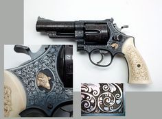 SMITH & WESSON MODEL 29-2 .44 MAGNUM: This beautifully engraved revolver is from the Robert E. Petersen Gallery at the National Firearms Museum.