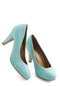 In a Classic of Its Own Heel in Mint - Mint, Solid, Work, Pastel, Mid, Party, Daytime Party, Minimal, Faux Leather, Press Placement, Best Se...