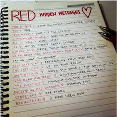 RED Hidden Messages